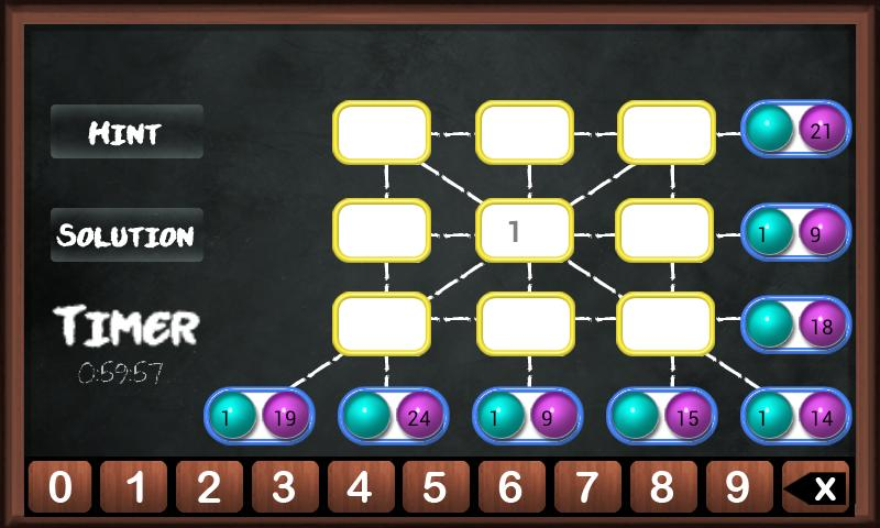 Brainy Mystic Maths Block Game- screenshot