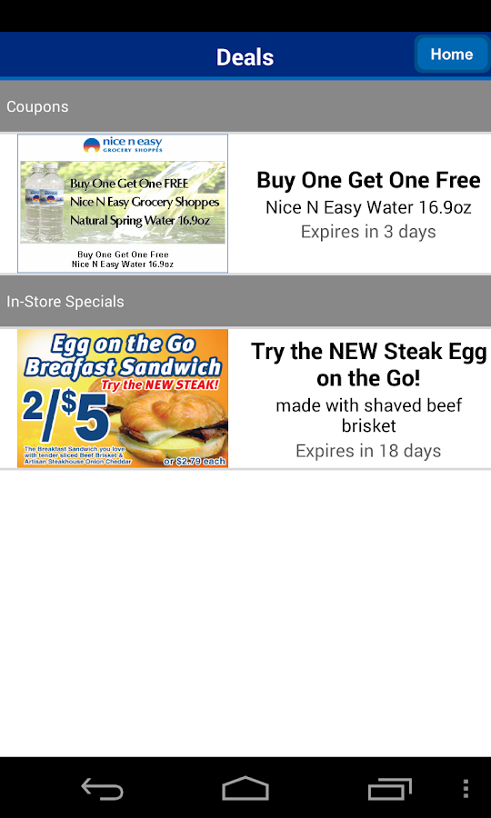 Nice N Easy Deals App - screenshot