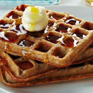 Toasted Oatmeal Waffles With A Hint Of Cinnamon.