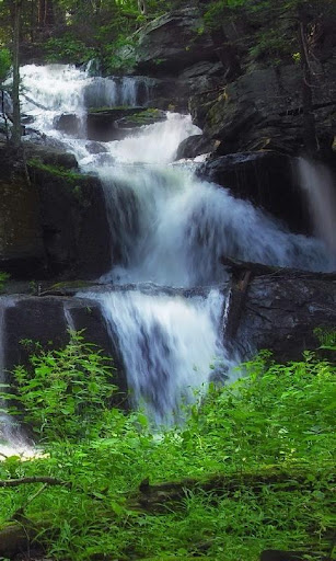 Swift waterfall live wallpaper