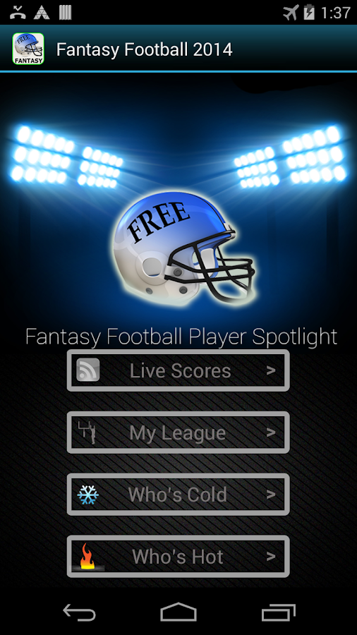 Fantasy Football -Hide My Text - screenshot