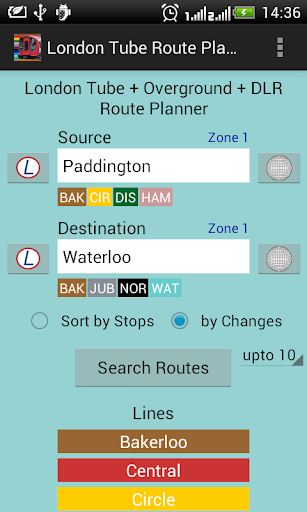 London Tube Route Planner