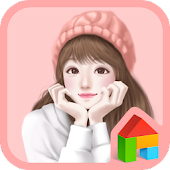 lovely girl smile dodol theme