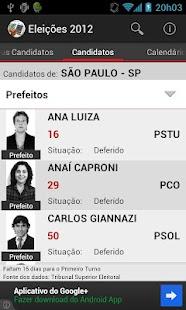 Eleições 2012- screenshot thumbnail