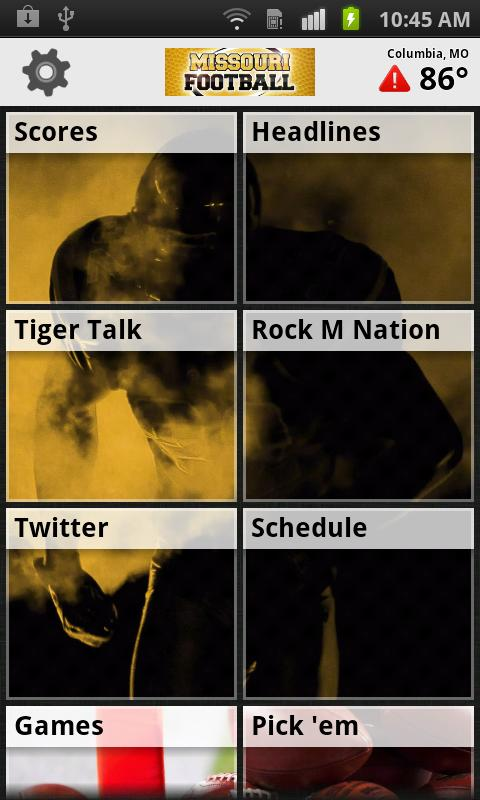 Missouri Football App - screenshot