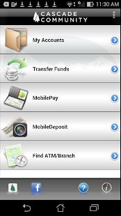 Cascade Comm CU MobileTeller - screenshot thumbnail