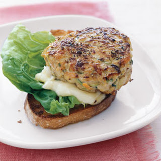 Turkey Burgers with Grated Zucchini and Carrot.