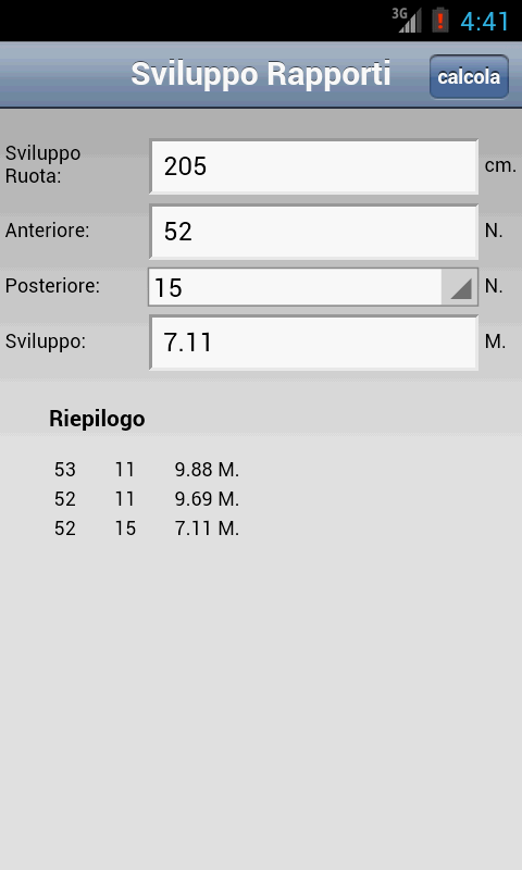 Rapporti Bicicletta - screenshot