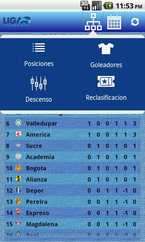 Liga Colombiana - screenshot