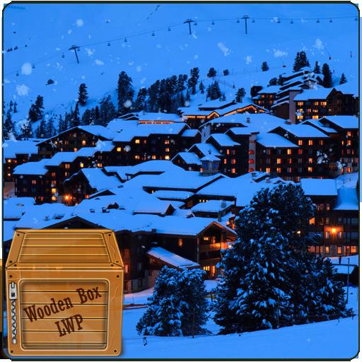 降雪的冬季度假胜地 LWP LOGO-APP點子