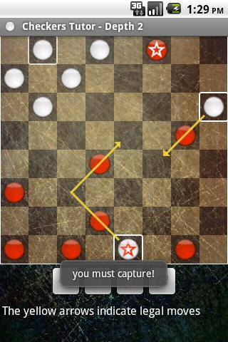 Checkers Tutor- screenshot