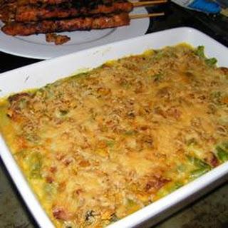 Anika's Cheesy Green Bean Casserole.