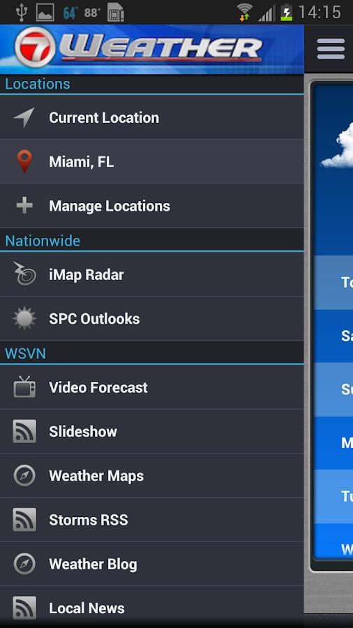 WSVN • South Florida's Weather - screenshot