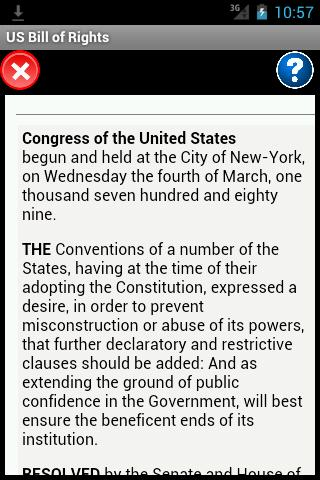 US Bill of Rights Reader