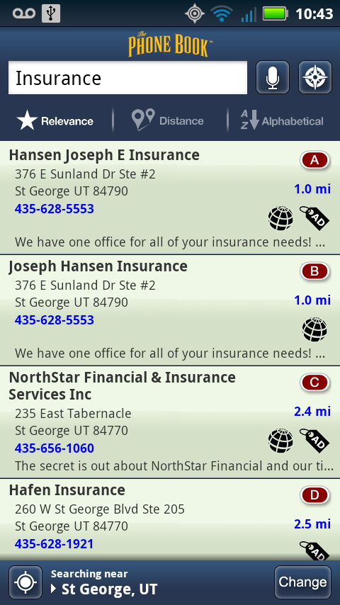 The Phone Book Yellow Pages- screenshot