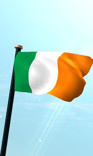 愛爾蘭旗3D動態桌布