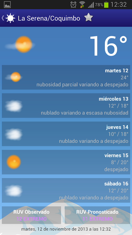 Meteorología Chile - screenshot