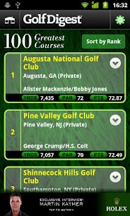 Golf Digest Course Critic - screenshot thumbnail