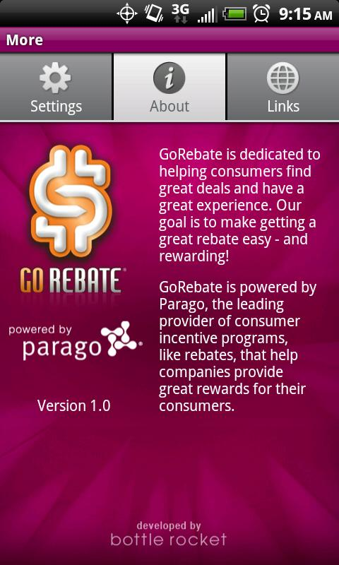 GoRebate Mobile - screenshot