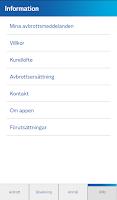 Screenshot of Avbrottsinfo
