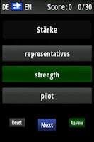 Screenshot of Vocabulary Trainer (DE/EN) Adv