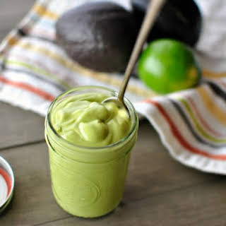 Creamy Avocado Salad Dressing.