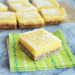 Heavenly Lemon Bars with Almond Shortbread Crust.