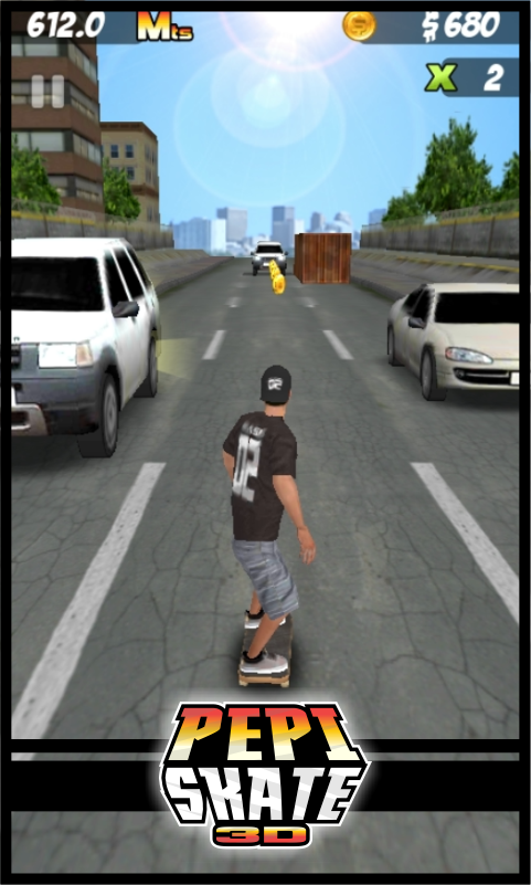 Screenshots of PEPI Skate 3D for iPhone
