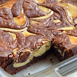Baileys Cheesecake-Marbled Brownies.