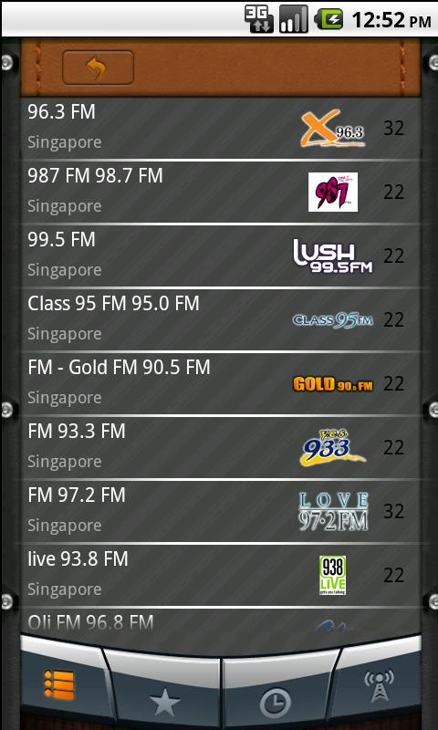 Singapore Radio - screenshot