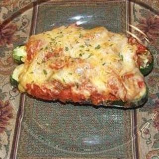 Sausage and Cheese Stuffed Zucchini