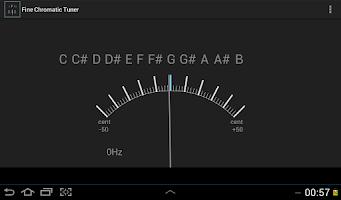 Screenshot of Fine Chromatic Tuner