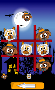 Cat Dog Toe Halloween - 🎃 Tic Tac Toe 🎃- screenshot thumbnail