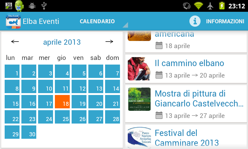 Elba Eventi- screenshot