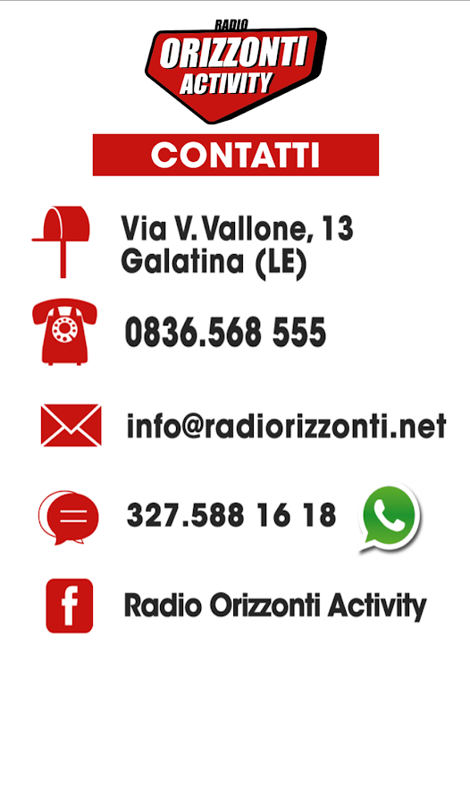 Radio Orizzonti Activity- screenshot
