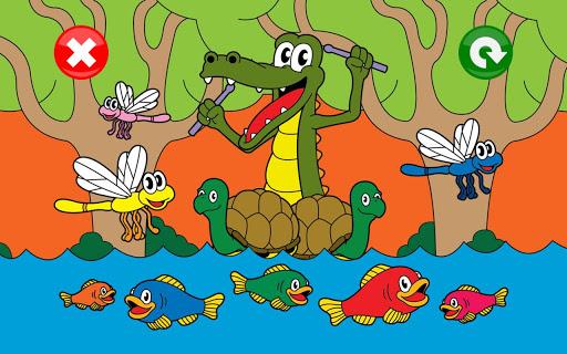 喬伊的動物拼圖為孩子們