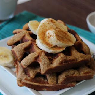 Cinnamon Banana Waffles.