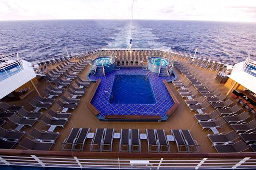 Carnival-Splendor-Aft-Pool - The aft pool aboard Carnival Splendor.