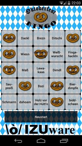 Oktoberfest Bingo Werbefrei