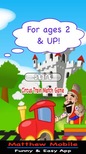 Circus train match game kid