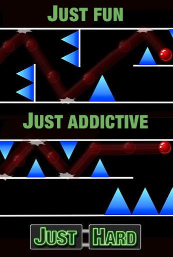 Just Hard - 红球避免了障碍赛跑不可能的迷宫数学