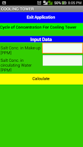 Cooling Tower Process Calc – Process data calculator for cooling