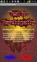 Screenshot of Test for Psychopathy
