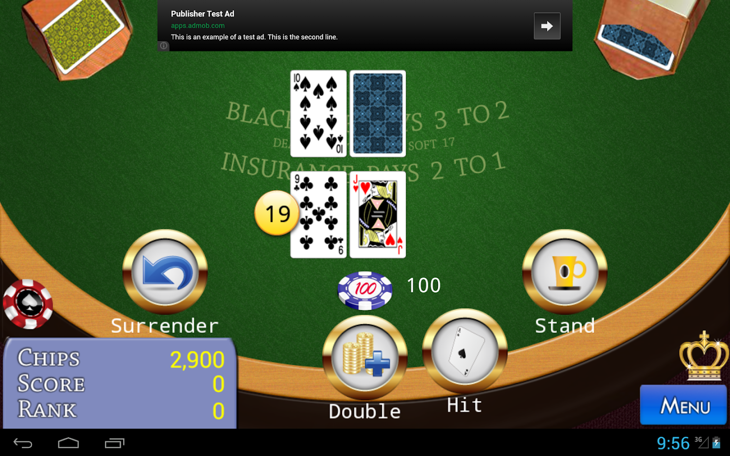 Classic 21 BlackJack- screenshot