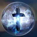 Spinning Orb Cross Wallpaper logo