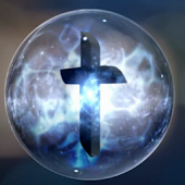 Spinning Orb Cross Wallpaper