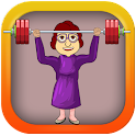 Old Granny Lifting Weights icon