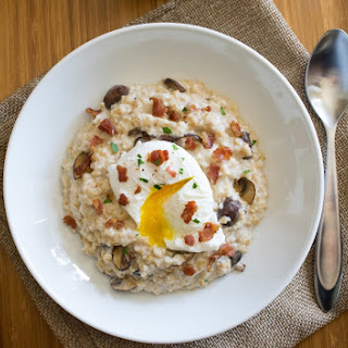 Bacon, Egg And Mushroom Oatmeal