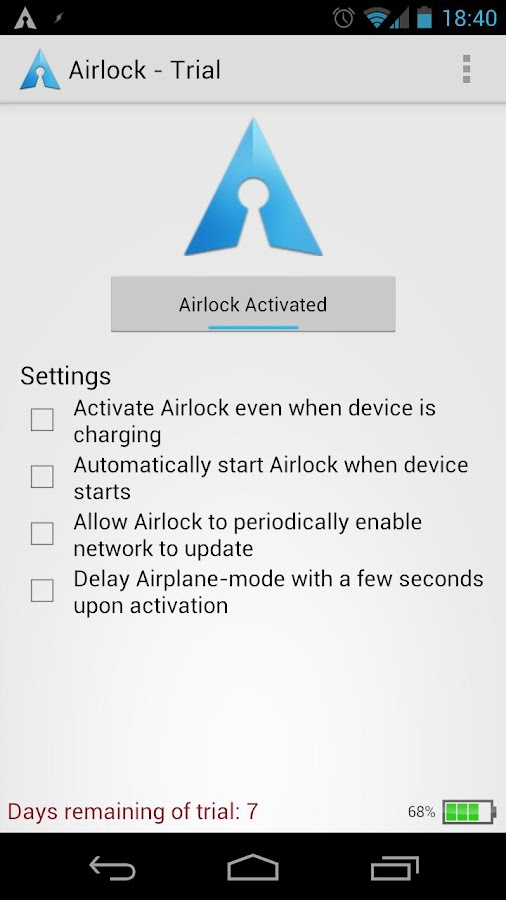 Airlock - Battery Saver Trial- screenshot