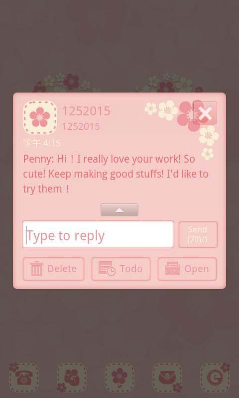 FlowerLove Theme GO SMS - screenshot